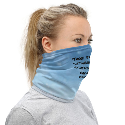 There is No Evidence that wearing a mask by Healthy Persons can prevent COVID-19 - CDC.   color-Blue custom