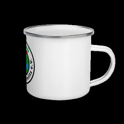 Emaillebecher, GC-MST Logo