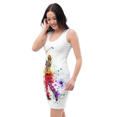 Sublimation-Cut & Sew Kleid mit GC-MST Logo und Golfer