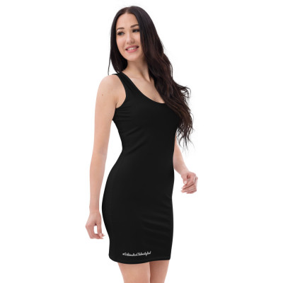 Sublimation-Cut & Sew Kleid BLACK mit GC Logo und Golfer
