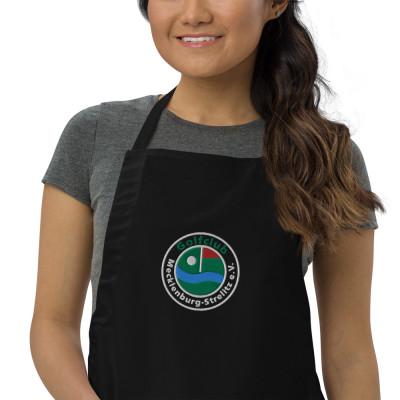 Grill Schürze für Amateure in Schwarz mit Logo