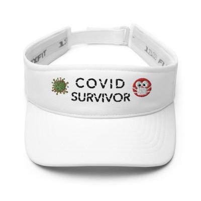 COVID SURVIVOR Visor White