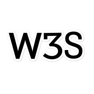 W3S Logo Sticker