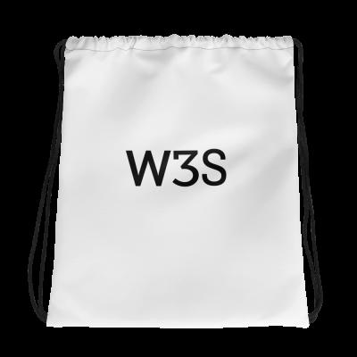 W3S Logo Drawstring bag