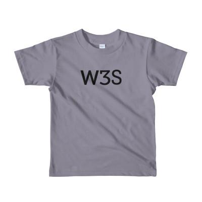 W3S logo Unisex Kids Short sleeve t-shirt