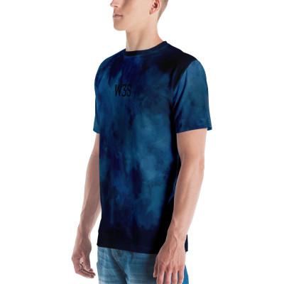 W3S - Blue Tie Dye Ribbon Logo Unisex T-shirt