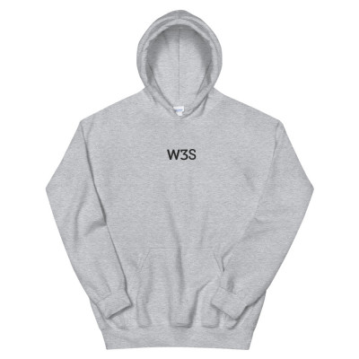 W3S - Embroidered Heather Unisex Hoodie