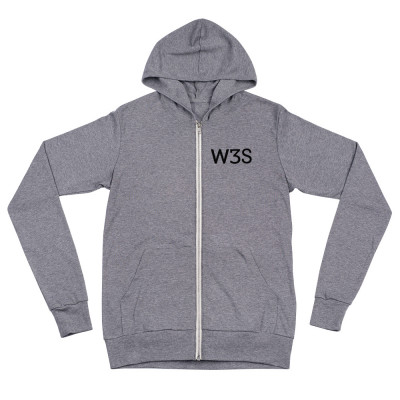 W3S - Unisex zip hoodie