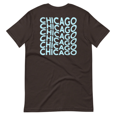 W3S - Chicago Waves Blue/ Brown Short-Sleeve Unisex T-Shirt
