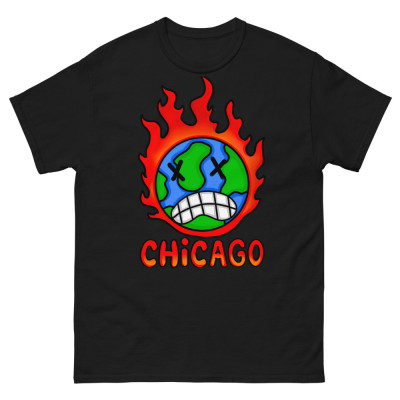 Flaming Earth - Men's heavyweight tee