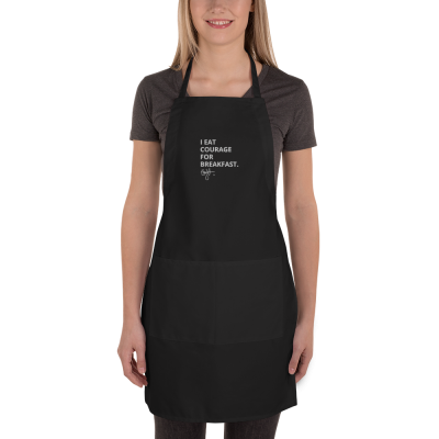 Courage For Breakfast - Embroidered Apron