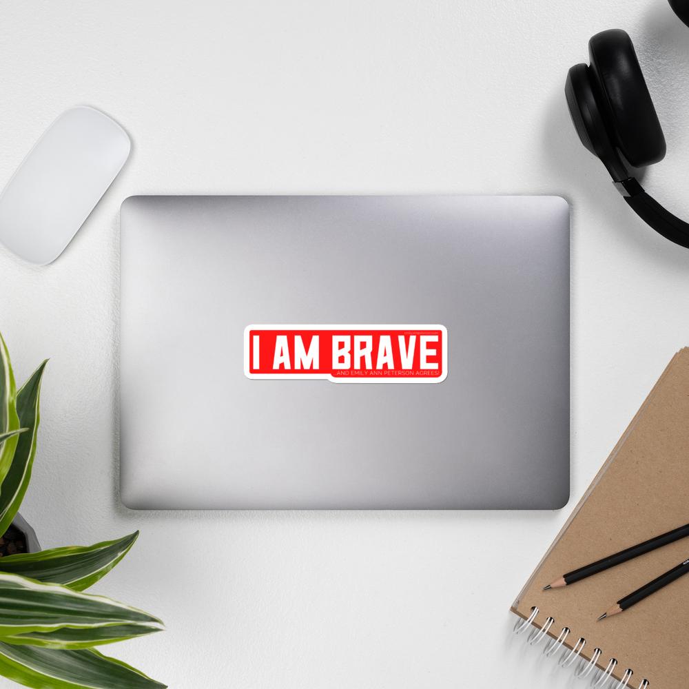 I AM BRAVE Sticker (Red)