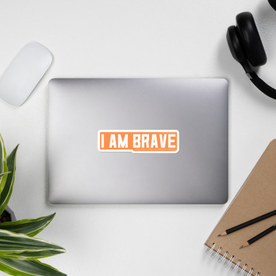 I AM BRAVE Sticker (Orange)