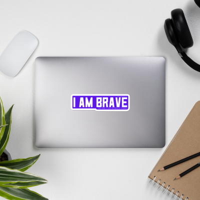 I AM BRAVE Sticker (Purple)