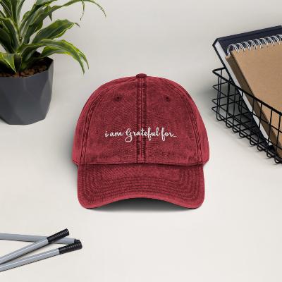 Gratitude Vintage Cap