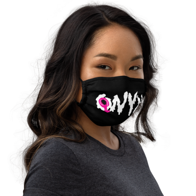 ONYX Splatter Text Face Mask