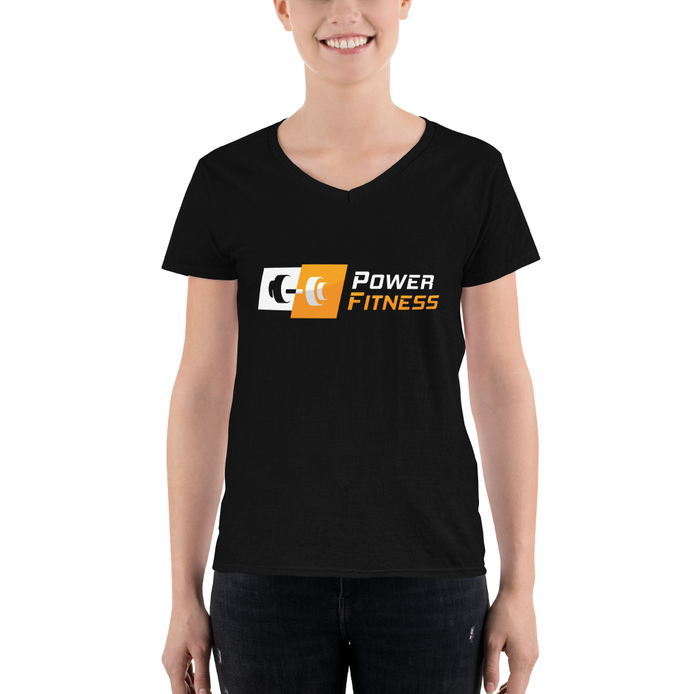 Power Fitness - Women's V-Neck T-Shirt | Anvil 88VL