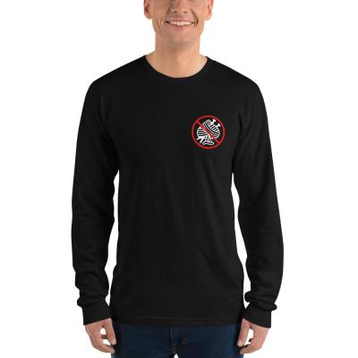 Anti Nit Poker Club Long Sleeve Black Shirt