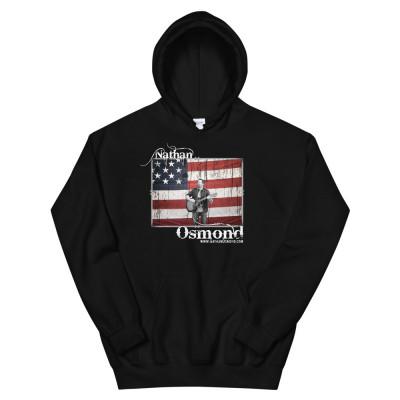Nathan Osmond American Flag - Unisex Hoodie