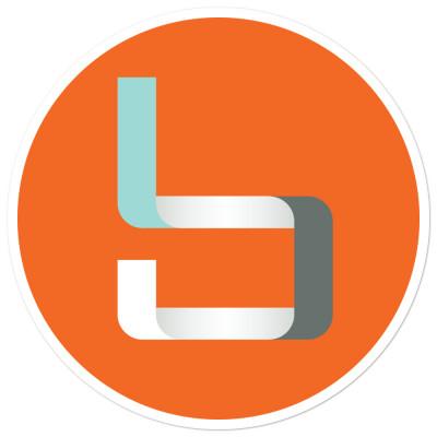 """""""b"""" Sticker Orange"""
