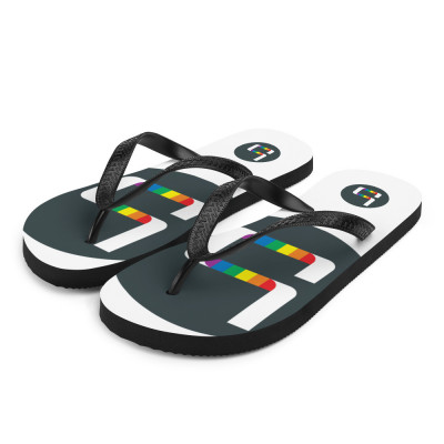 Beeler.Pride Flip-Flops