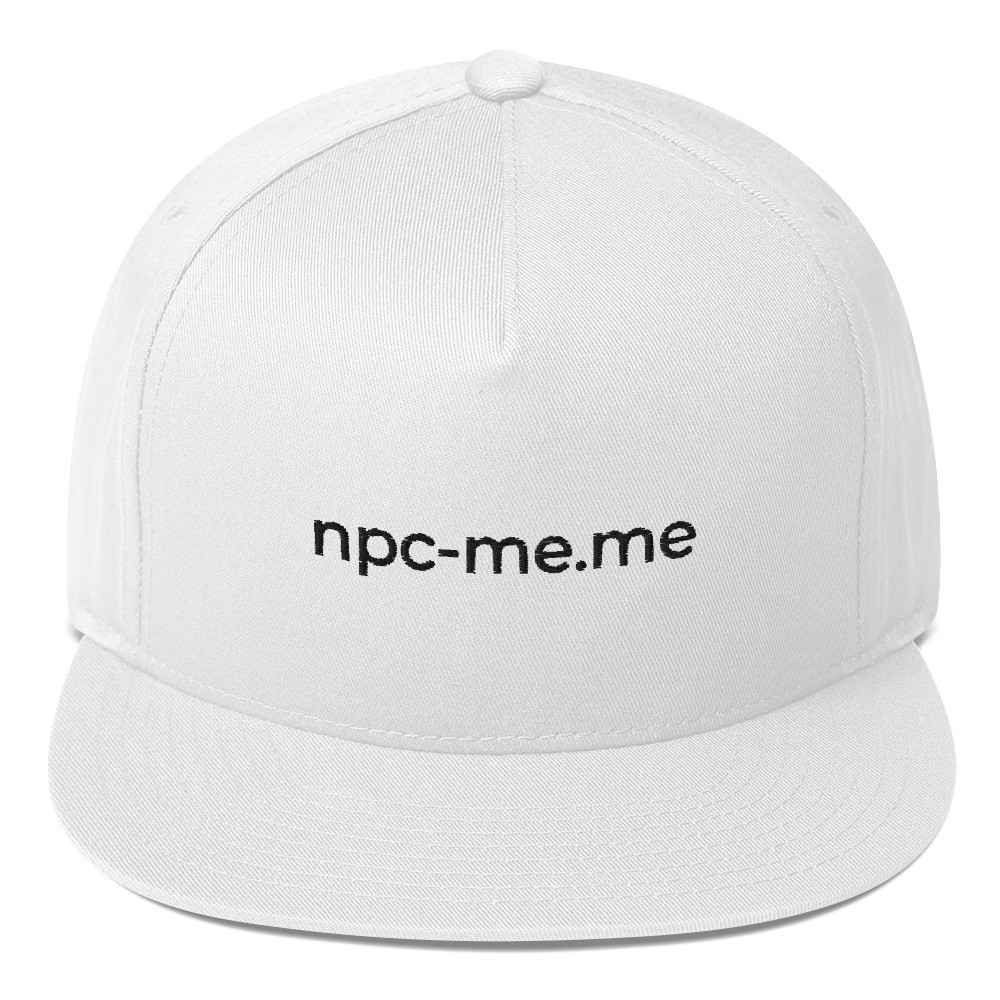 Flat Bill NPC MEME Cap