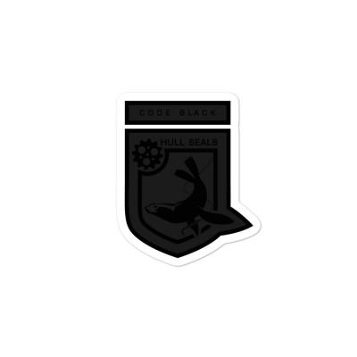 Hull Seals Code Black Shield Bubble-free stickers