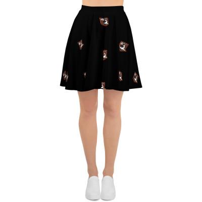 Hull Seals Shield Pattern Skater Skirt