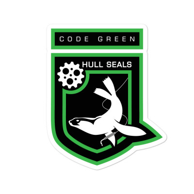 Hull Seals Code Green Shield Bubble-free stickers