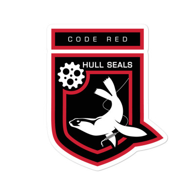 Hull Seals Code Red Shield Bubble-free stickers