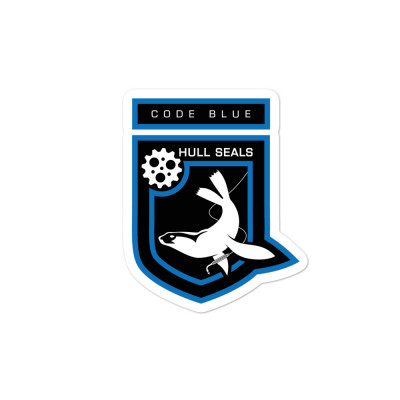 Hull Seals Code Blue Shield Bubble-free stickers