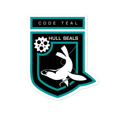 Hull Seals Code Teal Shield Bubble-free stickers