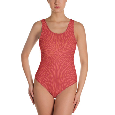 Red Woman's One-Piece Swimsuit