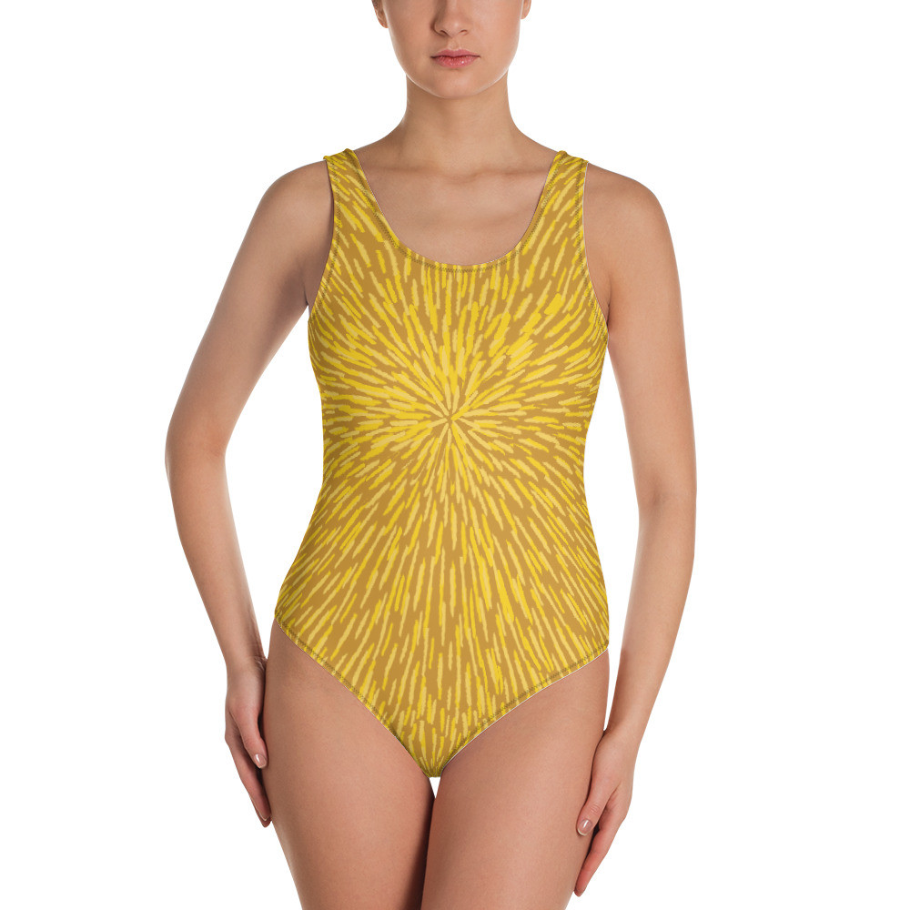 Yellow Woman's One-Piece Swimsuit