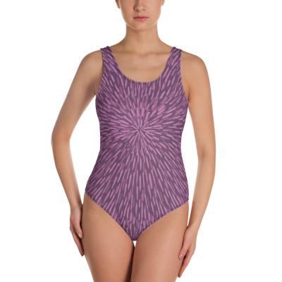 Purple Woman's One-Piece Swimsuit