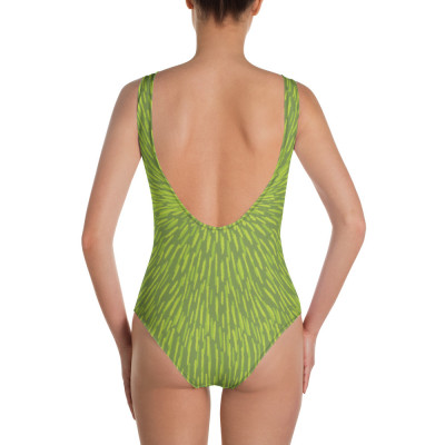 Green Woman's One-Piece Swimsuit