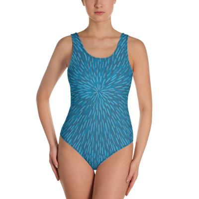 Blue Women's One-Piece Swimsuit