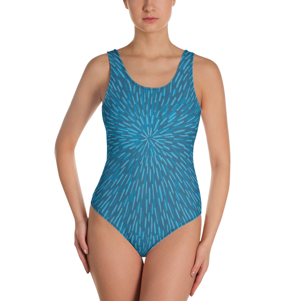 Blue Women's One-Piece Swimsuit
