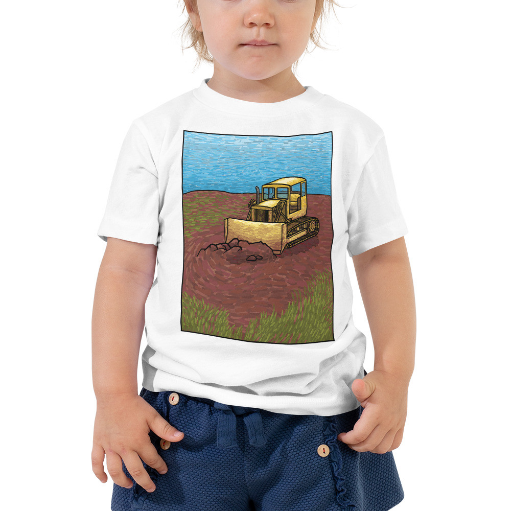 Bulldozer Toddler Short Sleeve Tee
