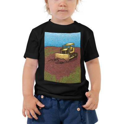 Bulldozer Toddler Short Sleeve Tee
