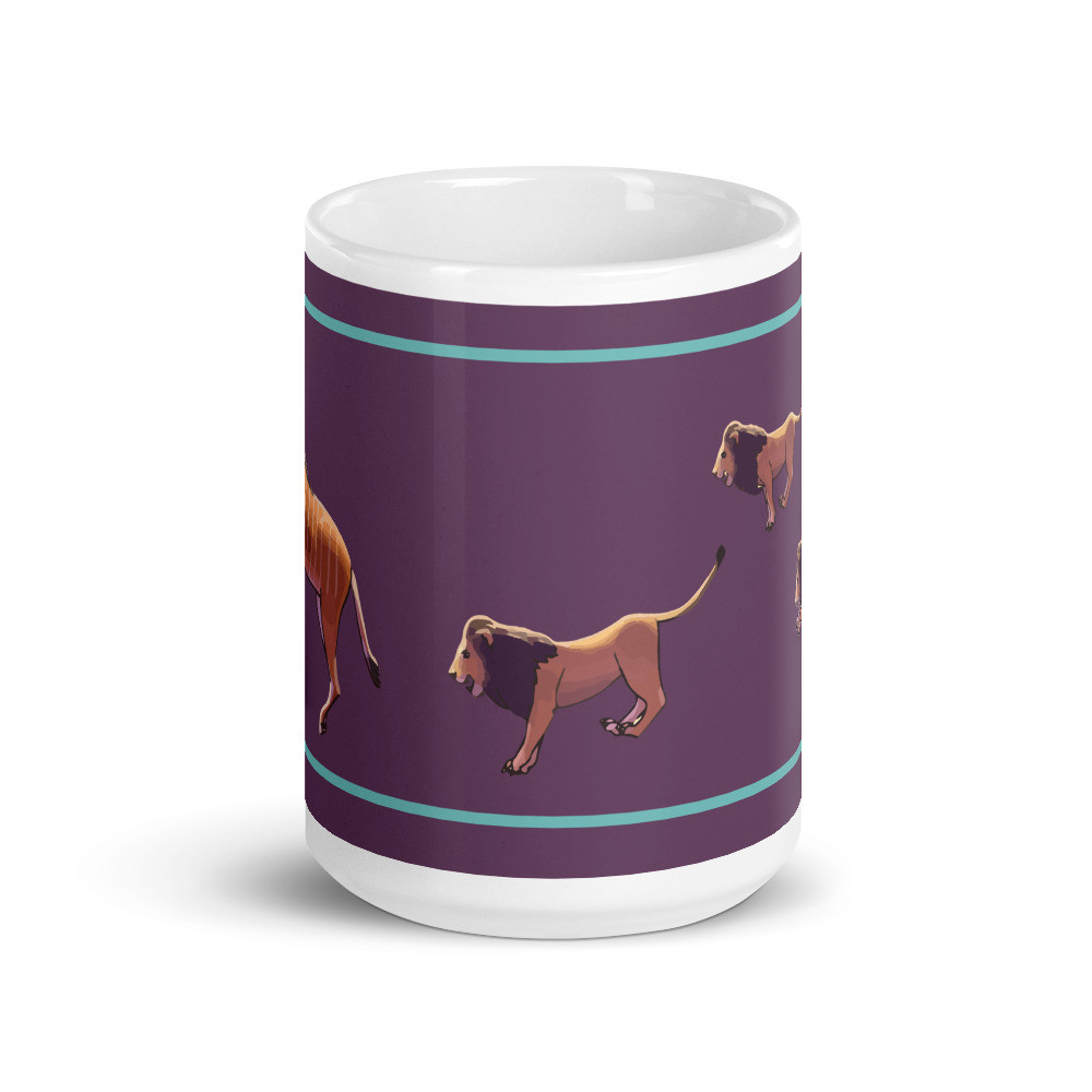 Giant Eland Lions Mug - Purple