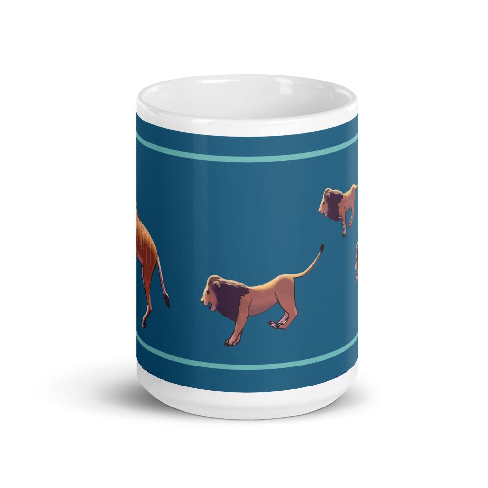 Giant Eland Lions Mug -  Blue