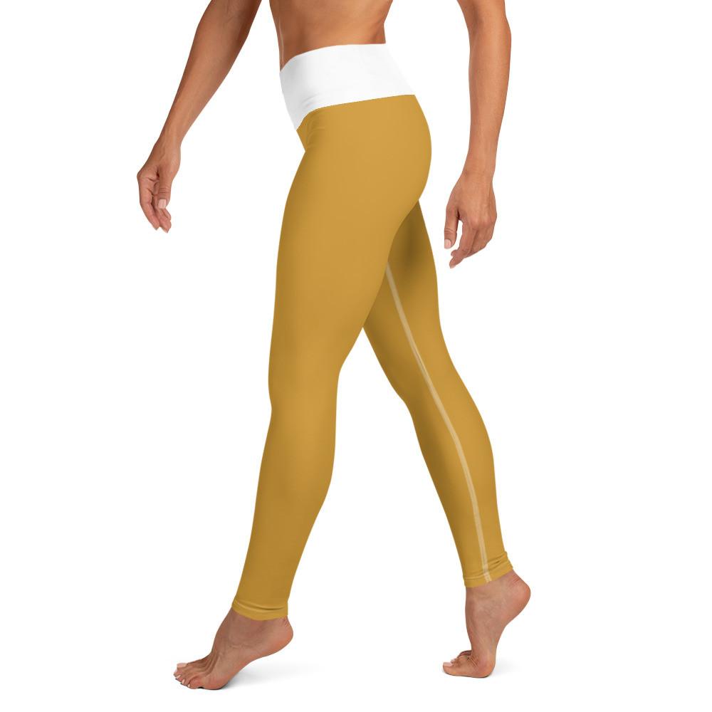 Yellow (white) Yoga Leggings