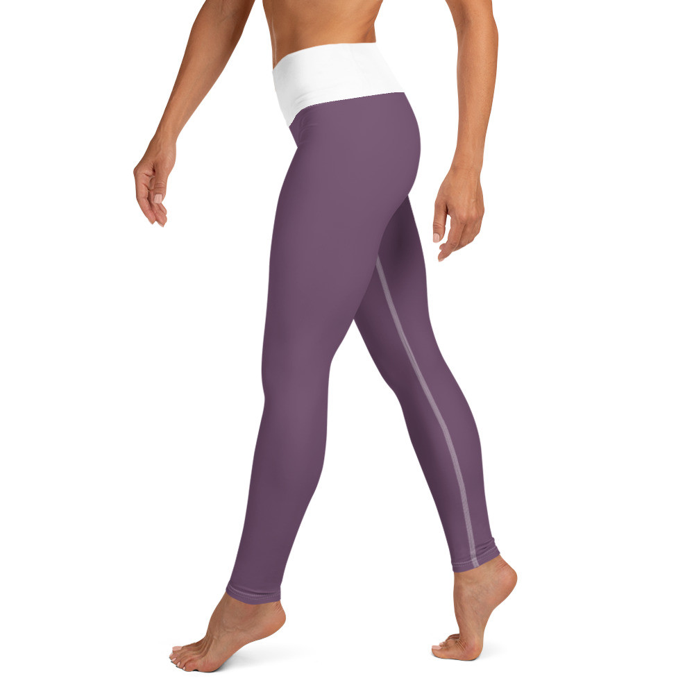 Purple (white) Yoga Leggings