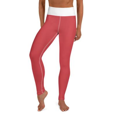 Red (white) Yoga Leggings