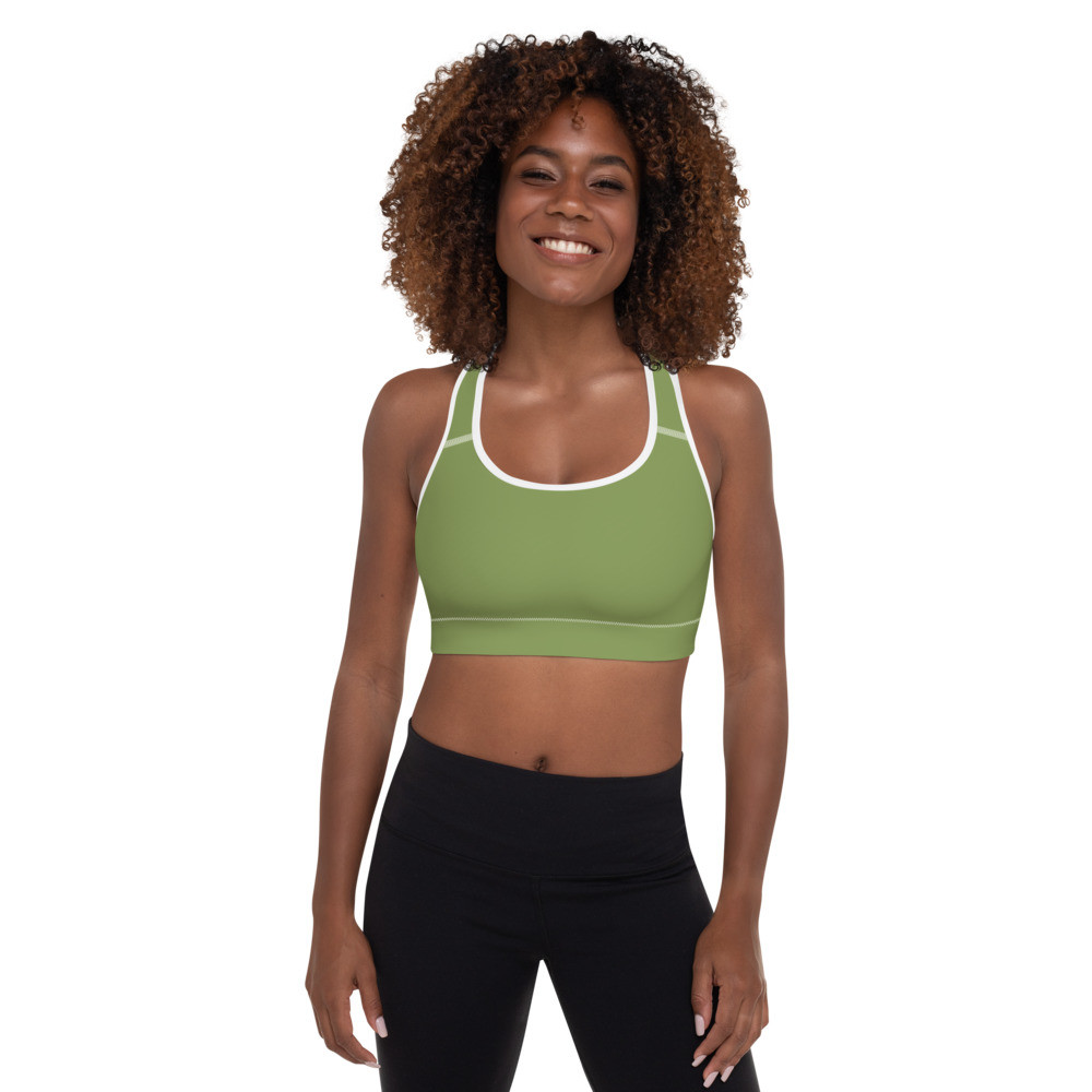 Green Padded Sports Bra