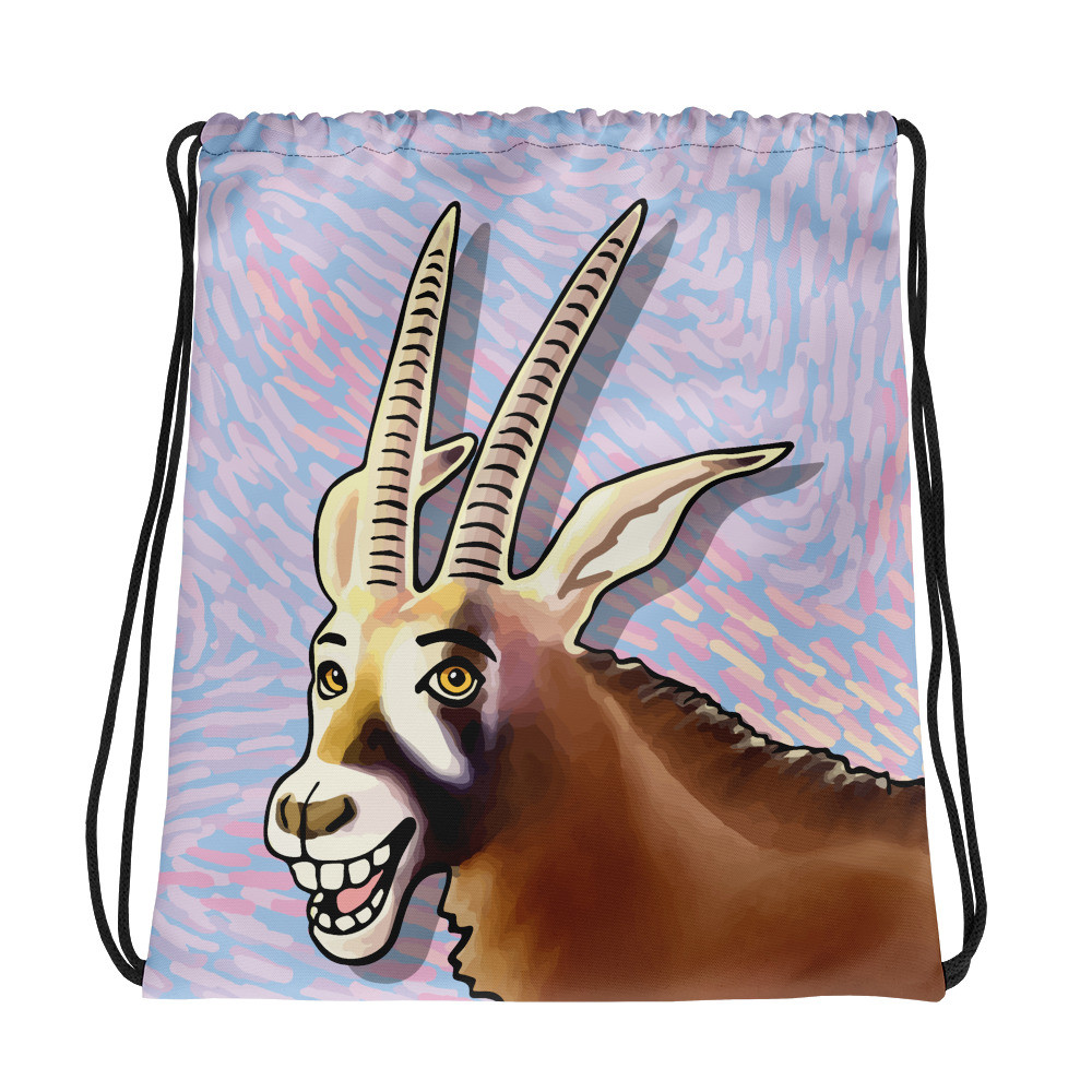Antelope Drawstring bag
