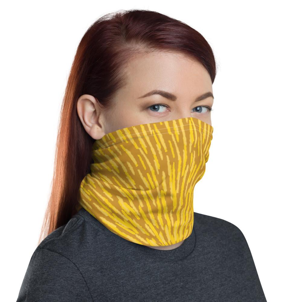 A Neck Gaiter - Yellow Burst