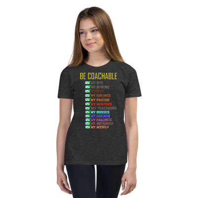 Be Coachable - Youth Short Sleeve T-Shirt - For Boys & For Girls