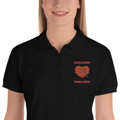 Ballers For Life - Embroidered Women's Polo Shirt